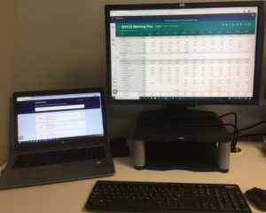 Two screen set up